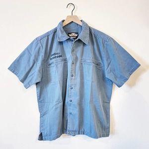 Harley Davidson Short Sleeve Button Down Shirt XL